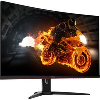 AOC CQ32G1 31.5inch WQHD Curved Screen 144Hz LED Gaming LCD Monitor - 16:9 - Black, Red