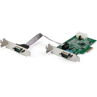 StarTech.com 2 Port RS232 Serial Adapter Card with 16950 UART - PCIe to Serial Adapter - Supports transfer rates up to 921.4Kbps - Windows and Linux Compatible - RS2