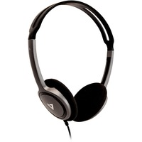 V7 HA310-2EP Wired Over-the-head Stereo Headphone - Black - Supra-aural - 32 Ohm - 1.80 m Cable - Mini-phone