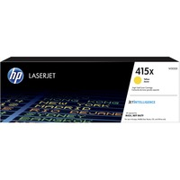 HP 415X Toner Cartridge - Yellow - Laser - High Yield - 6000 Pages