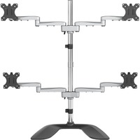 StarTech.com Quad-Monitor Stand - For up to 32inch VESA Mount Monitors - Articulating - Steel And Aluminum Four Monitor Mount ARMQUADSS - Up to 81.3 cm 32inch Screen Sup