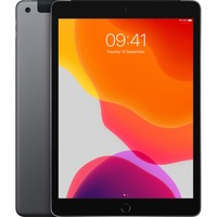 Apple iPad 7th Generation Tablet - 25.9 cm 10.2inch - 128 GB Storage - iPad OS - 4G - Space Gray - Apple A10 Fusion SoC - 1.2 Megapixel Front Camera - 8 Megapixel R