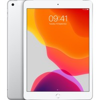 Apple iPad 7th Generation Tablet - 25.9 cm 10.2inch - 128 GB Storage - iPad OS - 4G - Silver - Apple A10 Fusion SoC - 1.2 Megapixel Front Camera - 8 Megapixel Rear