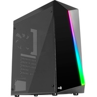 AeroCool Shard Computer Case - ATX, Micro ATX, Mini ITX Motherboard Supported - Mid-tower - SPCC, Acrylonitrile Butadiene Styrene ABS, Tempered Glass, Acrylic - Bl