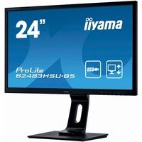 iiyama ProLite B2483HSU-B5 24inch Full HD WLED LCD Monitor - 16:9 - Matte Black