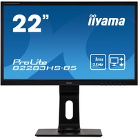 iiyama ProLite B2283HS-B5 21.5inch Full HD LED LCD Monitor - 16:9 - Matte Black
