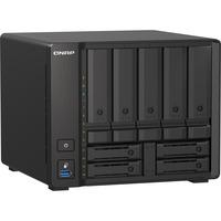 QNAP TS-H973AX-8G 9 x Total Bays SAN/NAS Storage System - 5 GB Flash Memory Capacity - AMD Ryzen Quad-core 4 Core 2.20 GHz - 8 GB RAM - DDR4 SDRAM Tower - Serial A