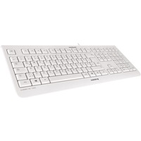CHERRY KC 1000 Keyboard - Cable Connectivity - Pale Gray