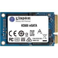 Kingston KC600 512 GB Solid State Drive - mSATA Internal - SATA (SATA/600) - Desktop PC, Notebook Device Supported - 300 TB TBW - 550 MB/s Maximum Read Transfer Rate