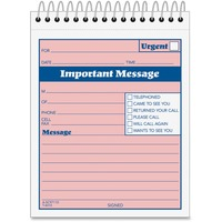 Adams Spiral bound Phone Message Booklet ABFSC9711D