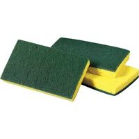 Dual-action cleaning tool is ideal for general-purpose cleaning. On one side, it's a No. 96 scouring pad for scrubbing and cleaning. On the other side, the cellulose sponge quickly wipes up spills and messes. You can also use the sponge to carry cleaning solutions to the worksurface. Sponge is not recommended for use on polished or easily scratched surfaces. More from the Manufacturer