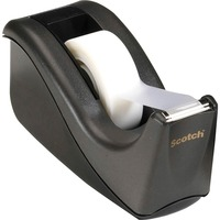 Scotch? Desktop Office Tape Dispenser, Two-Tone Black/Black, 1
