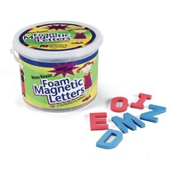 Magnetic letters are great for teaching, spelling and phonics. Letters are made of lightweight, nontoxic EVA foam with magnetic backing. Consonants are blue, and vowels are red for a wide variety of letter activities. Letters are suitable for children ages 3 and up for educational purposes only.