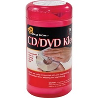 Advantus ReadRight CDDVD Kleen Premoistened Wipes REARR1420
