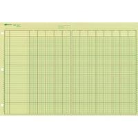 "Green Paper 45604 4 Columns NATIONAL Brand Analysis Pad 11 x 8.5/"" 50 Sheets"