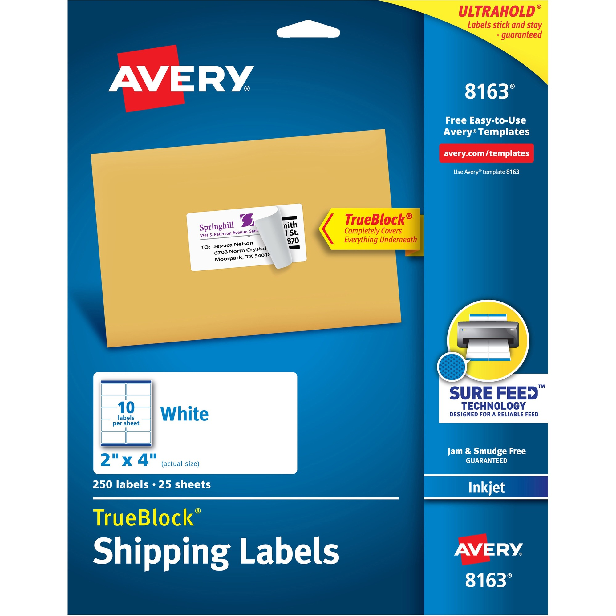 Avery® EcoFriendly Shipping Labels - Permanent Adhesive - 2