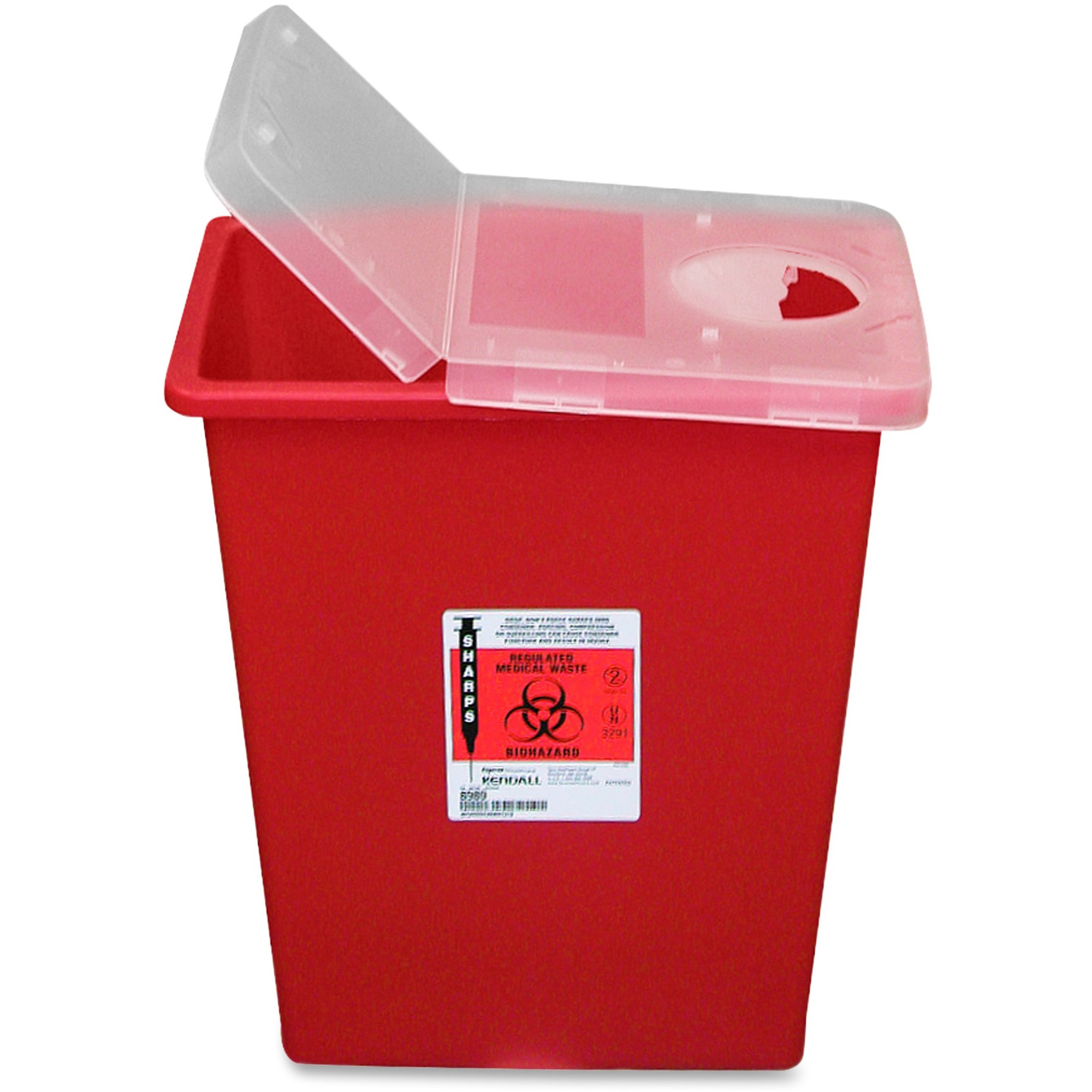 Covidien Kendall Sharps Containers with Hinged Lid - 8 gal Capacity