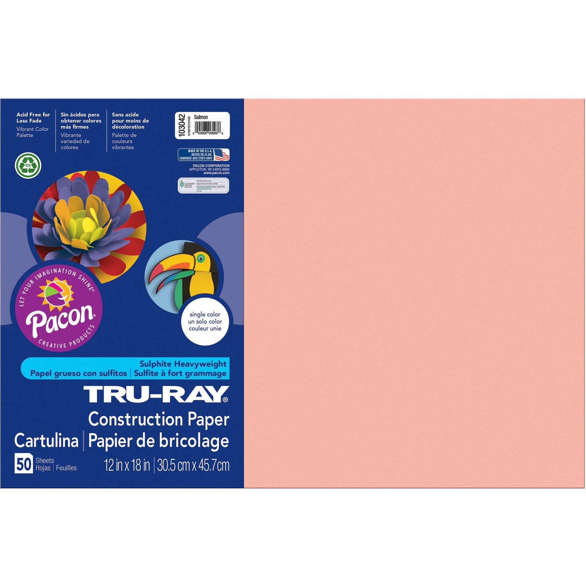 50 Sheets//Pack Lilac PAC103018 Pacon Tru-Ray Construction Paper 9 x 12 PK