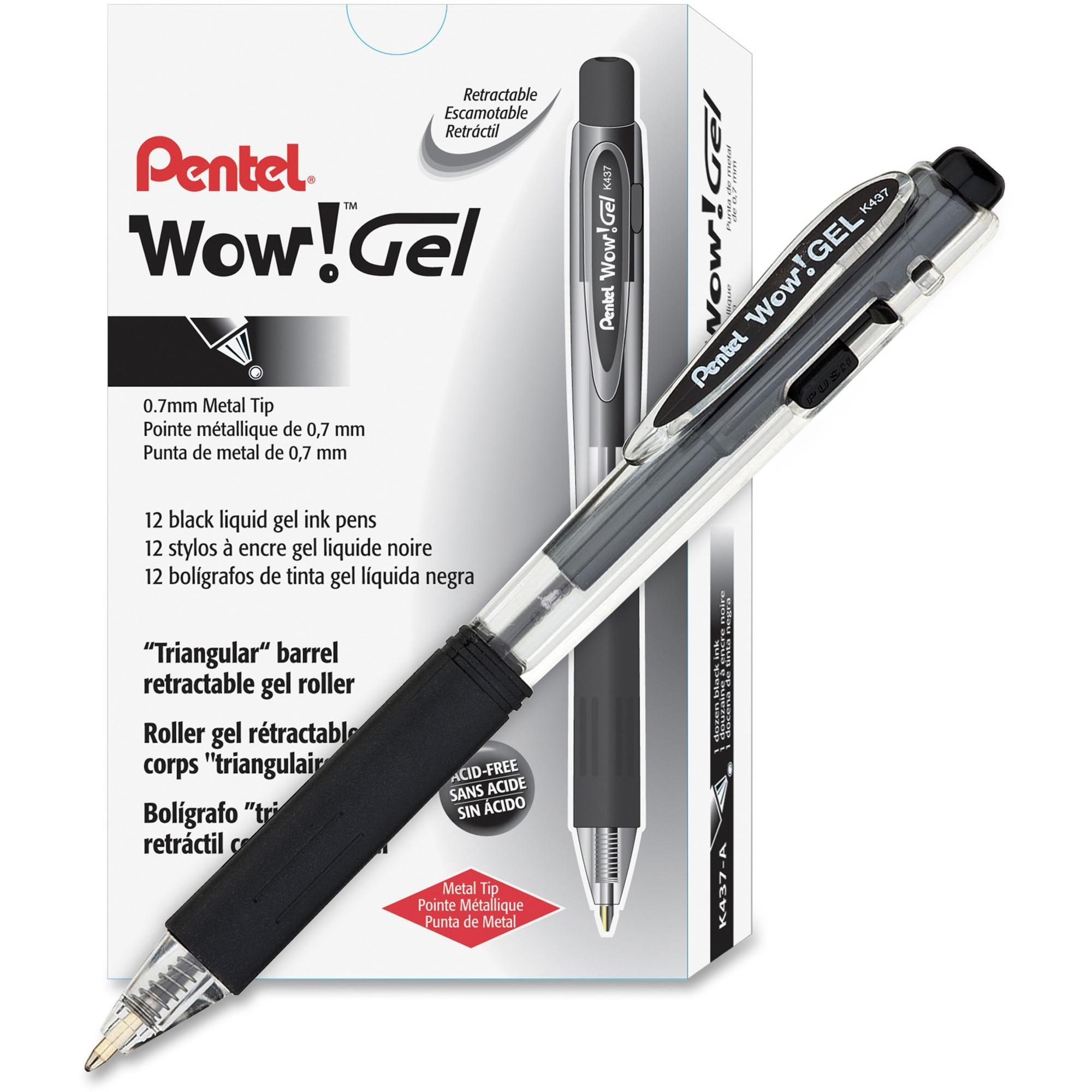 Pentel EnerGel Steel Tip Pen 13 Each Medium Point Red Ink,- PENBL77B
