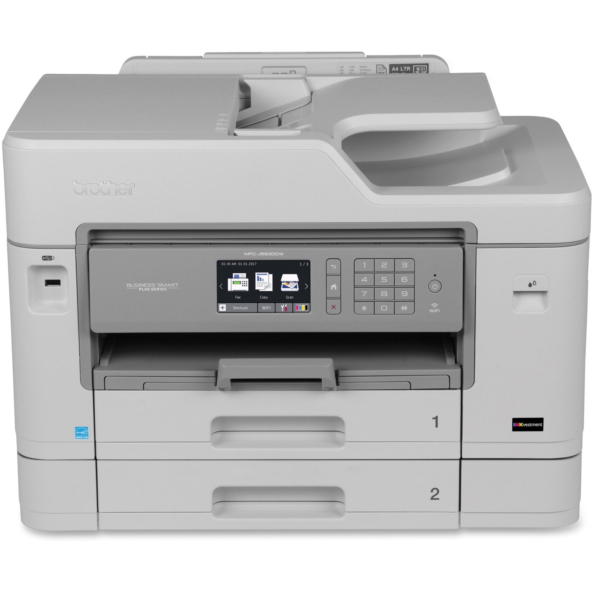 Brother Work Smart Mfc J460dw Inkjet Multifunction Printer Color