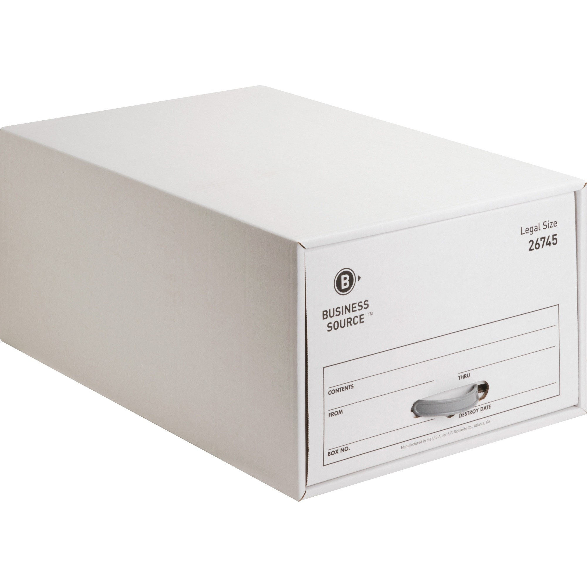 Business Source Stackable File Drawer - Internal Dimensions