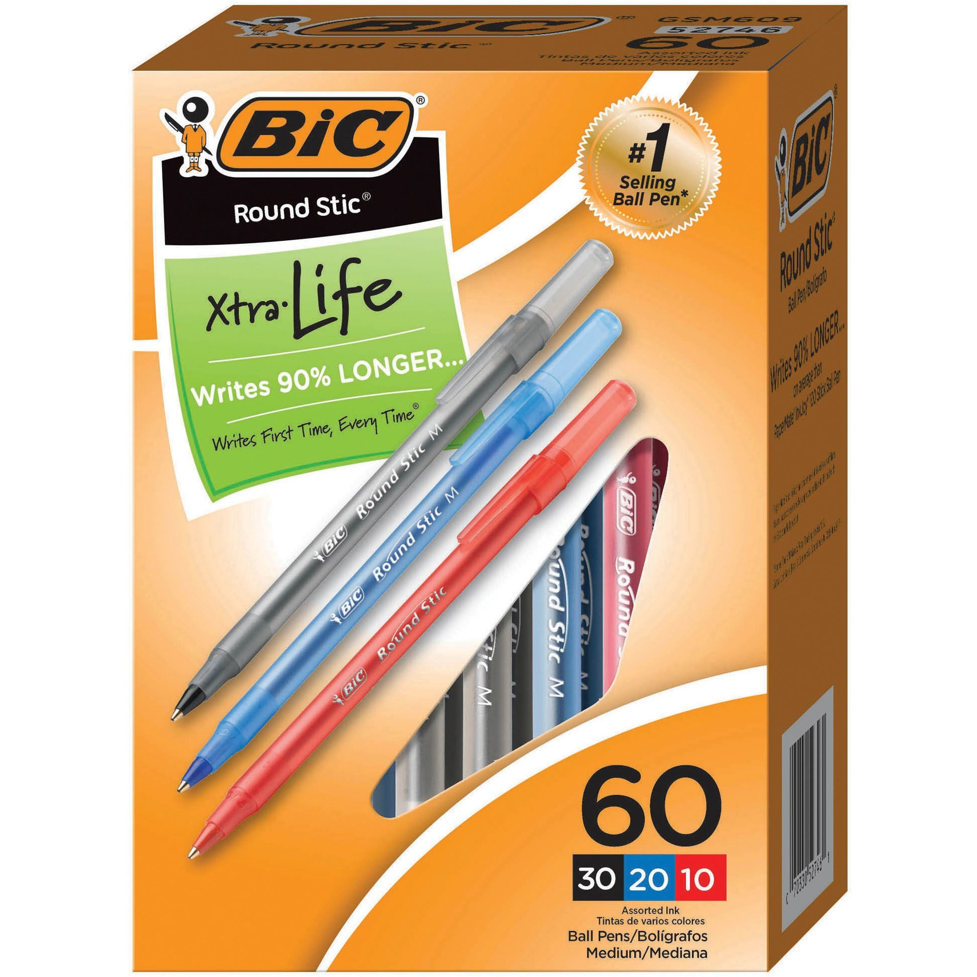 Bic Cristal Xtra Smooth Ball Pens Red Ink 3 Packs 36 Pens Total New Packages