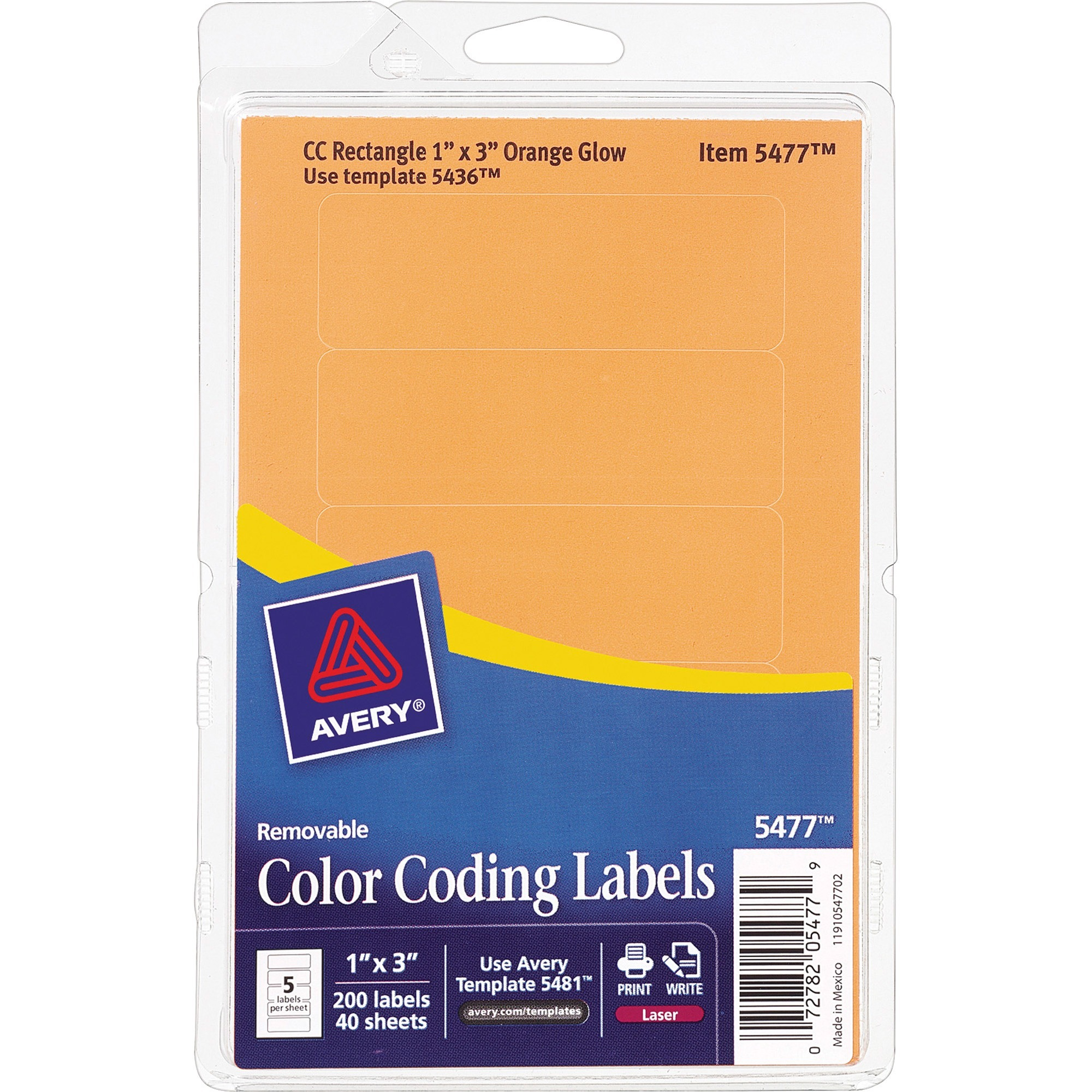 Avery® Removable ID Labels - Removable Adhesive - 4
