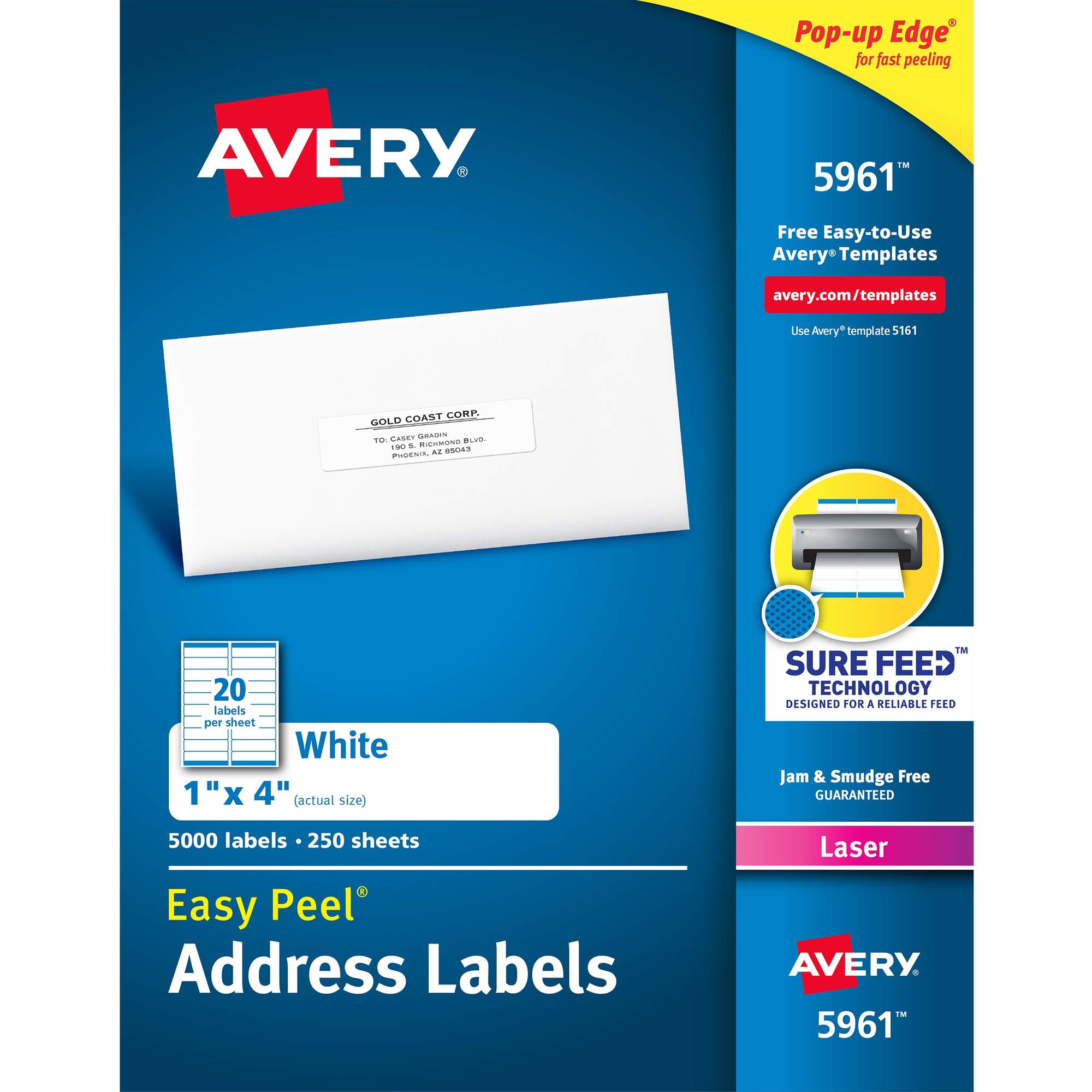 Avery WeatherProof Mailing Labels with TrueBlock Technology ...
