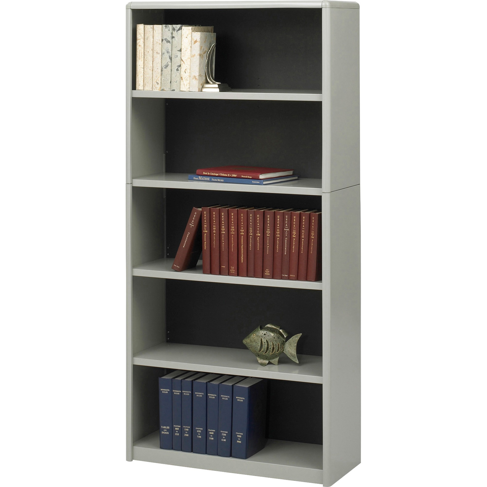 x shelf metal height recycled bookcases bookcase brigade hon width putty steel products depth
