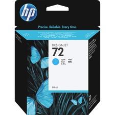 HP 72 Vivera Cyan Ink Cartridge - Inkjet - 1 Each