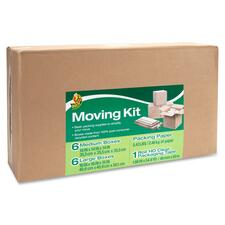 Duck Brand - Duck Moving Kit, Tape/Boxes/ Packing Paper, Brown