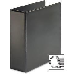 "Cardinal EasyOpen D Ring Locking Ring Binder - Letter - 8.5"" x 11"" - 4"" Capacity - 1 Each - Black"