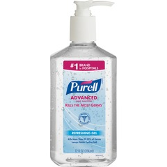 Gojo Purell Instant Hand Sanitizer with Vitamin E - 12fl oz - Pump Bottle Dispenser - Moisturizing -