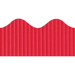 "Pacon Bordette Scalloped Decorative Border - Rectangle with Scalloped Trim - 2.25"" x 50ft - Paper - Dark Red"