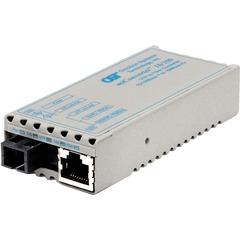 Omnitron miConverter Miniature Ethernet Media Converter - 1 x RJ-45 , 1 x SC - 10/100Base-TX, 100Base-FX