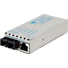 Omnitron miConverter Miniature Ethernet Media Converter - 1 x RJ-45 , 1 x SC Duplex - 10/100Base-TX, 100Base-FX