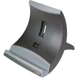Black Safco SAF2180BL Height Adjustable Laptop Stand