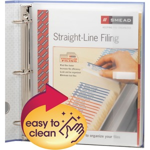 """Smead Poly Three-Ring Envelope - 1.25"""" Maximum Capacity - Ring Binder - Clear - Poly - 1 / Pack"""
