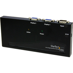 StarTech.com 2 Port High Resolution VGA Video Splitter - 350 MHz - 2Monitor - 2048 x 1536 @ 80 Hz - VGA