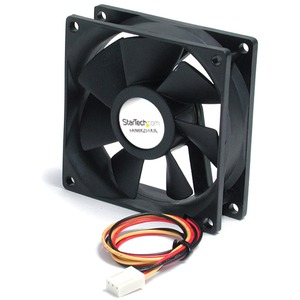 StarTech.com 80x25mm Ball Bearing Quiet Computer Case Fan w/ TX3 Connector - 80 mm - 2000 rpm Dual Ball Bearing