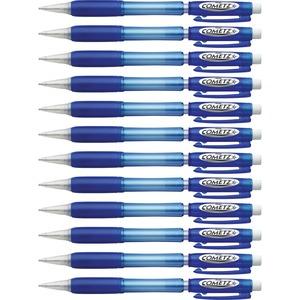 Pentel Cometz .9mm Automatic Pencils - #2 Lead - 0.9 mm Lead Diameter - Blue Barrel - 1 Dozen