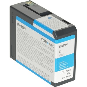 Epson UltraChrome T5802 Ink Cartridge - Cyan