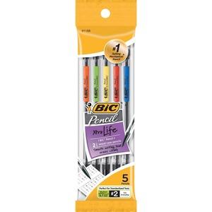 BIC .7mm Mechanical Pencils - #2 Lead - 0.7 mm Lead Diameter - 5 / Pack