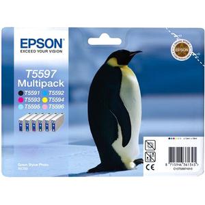Epson T5597 Ink Cartridge - Cyan, Magenta, Yellow, Photo Cyan, Photo Magenta