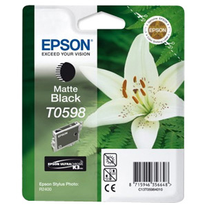 Epson UltraChrome T0598 Ink Cartridge - Matte Black