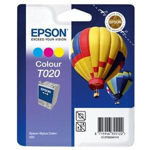 Epson T020 Ink Cartridge - Cyan, Magenta, Yellow