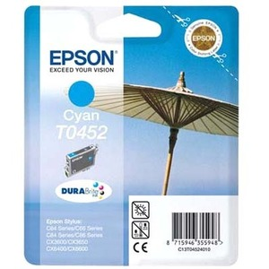 Epson DURABrite T0452 Ink Cartridge - Cyan