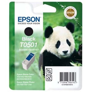 Epson T0501 Ink Cartridge - Black