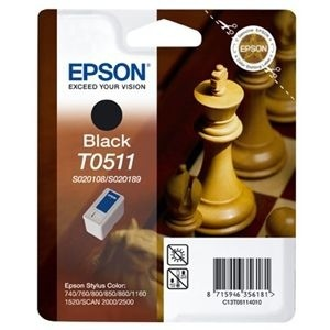 Epson T0511 Black Ink Cartridge - 7500 Page
