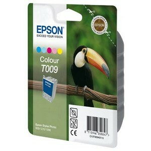 Epson T009 Ink Cartridge - Light Cyan, Yellow, Black